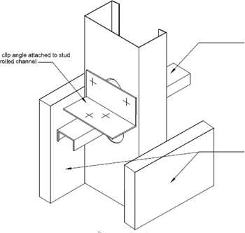 metal framing header detail. Fine Framing This Is A Detail That Illustrates How Lateral Bracing Of Structural Studs  Interior And Exterior Accomplished DOWNLOAD DWG  PDF Right Click To Save  Intended Metal Framing Header Detail