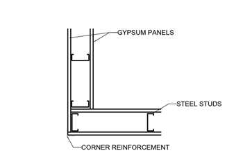 metal framing details. Detail Is Of A Non-structural Cold-formed Steel Framed Interior Partition  Showing 2 Stud Corner Detail. DOWNLOAD: DWG / PDF (Right Click To Save These Metal Framing Details T